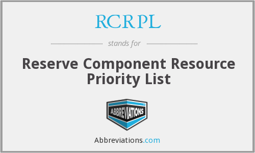 What does RCRPL stand for?