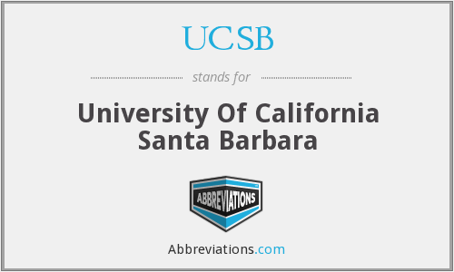 What does UCSB stand for?