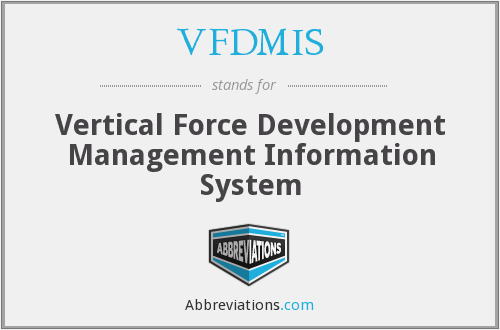 What does VFDMIS stand for?