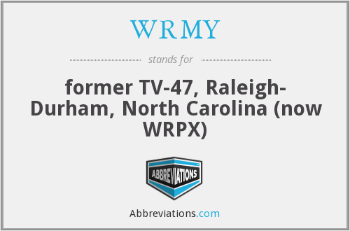 What does WRMY stand for?