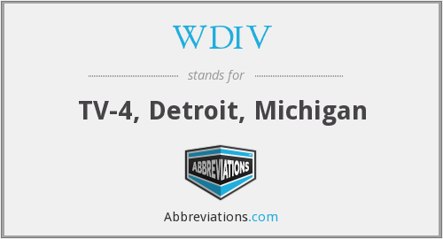 What does WDIV stand for?