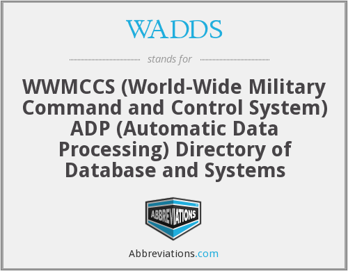 What does WADDS stand for?