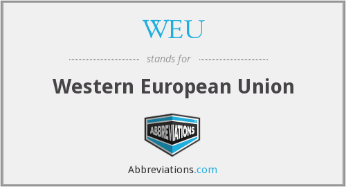 What does WEU stand for?