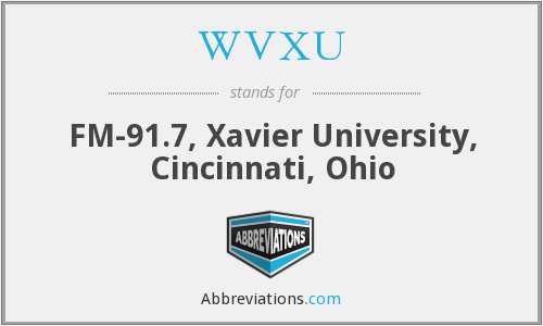 What does WVXU stand for?
