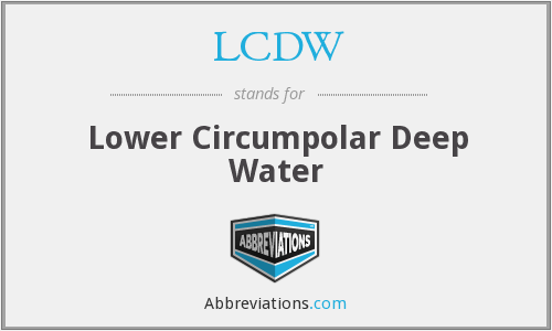 What does LCDW stand for?