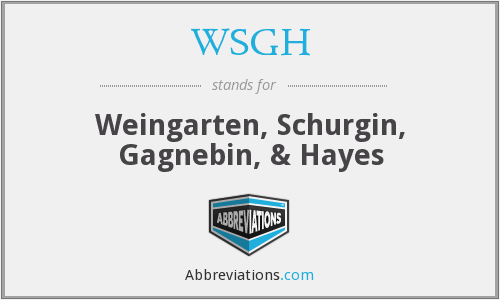 What does WSGH stand for?