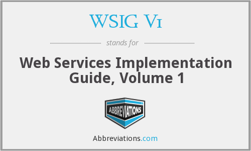 What does WSIG V1 stand for?