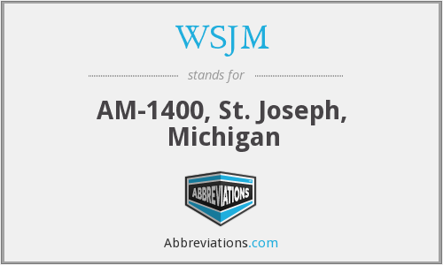 What does WSJM stand for?