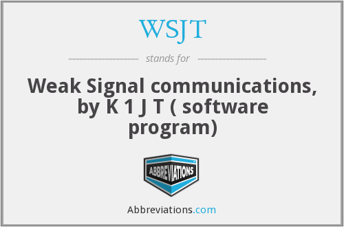What does WSJT stand for?