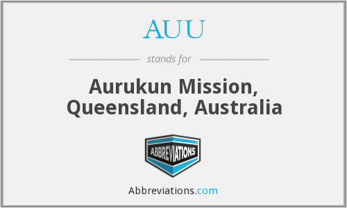 What does AUU stand for?