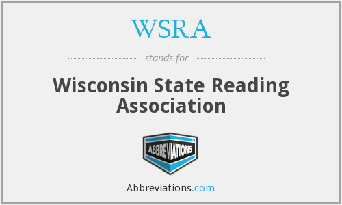 What does WSRA stand for?