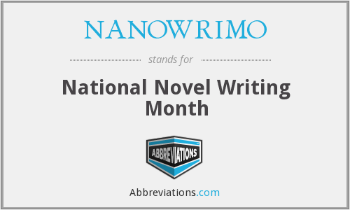 What does NANOWRIMO stand for?