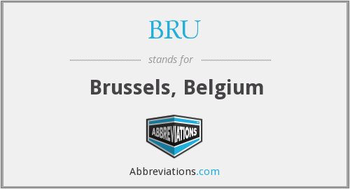 What does BRU stand for?