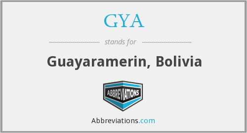 What does GYA stand for?