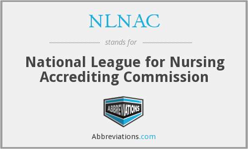 What does NLNAC stand for?