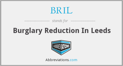 What does BRIL stand for?
