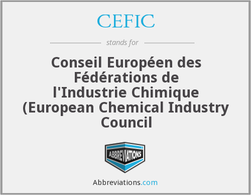 What does CEFIC stand for?