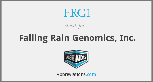 What does FRGI stand for?