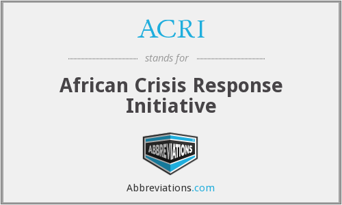 What does ACRI stand for?