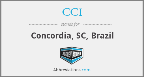 What does CCI stand for?