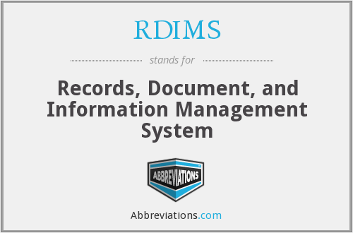 What does RDIMS stand for?