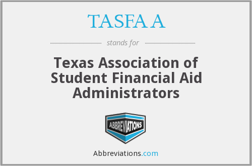 What does TASFAA stand for?