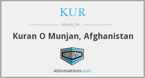 What does KUR. stand for?