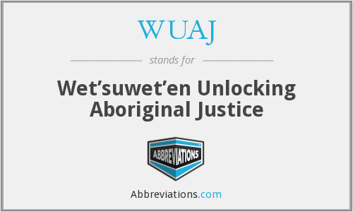 What does WUAJ stand for?