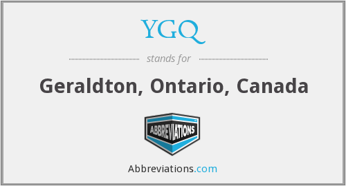 What does YGQ stand for?