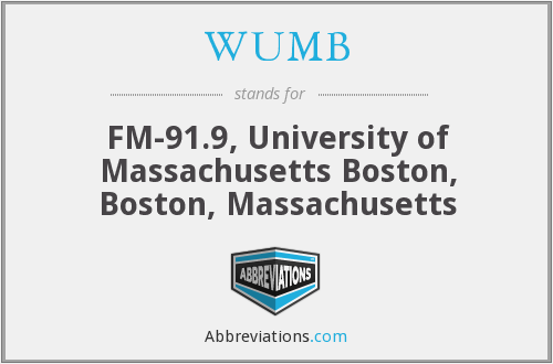 What does WUMB stand for?