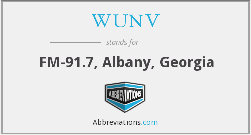 What does WUNV stand for?