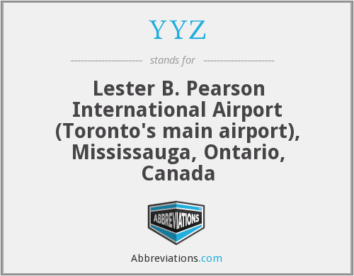 What does YYZ stand for?