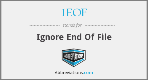 What does IEOF stand for?