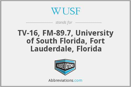 What does WUSF stand for?