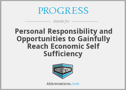 What does PROGRESS stand for?