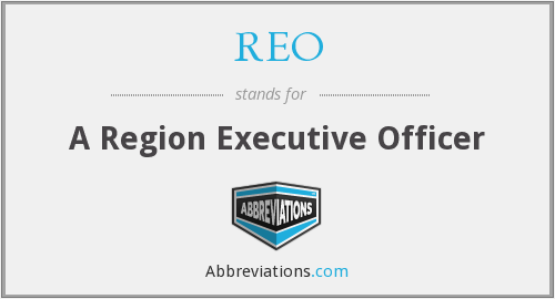 What does REO stand for?