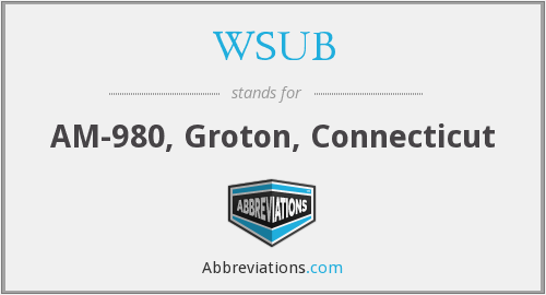 What does WSUB stand for?