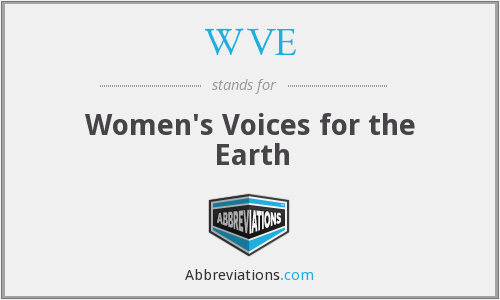 What does WVE stand for?