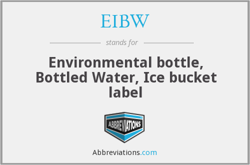 What does EIBW stand for?
