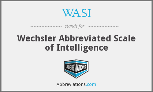 What does WASI stand for?