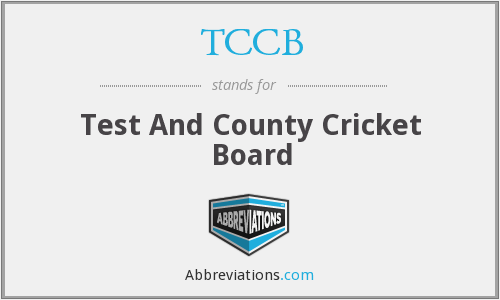 What does TCCB stand for?