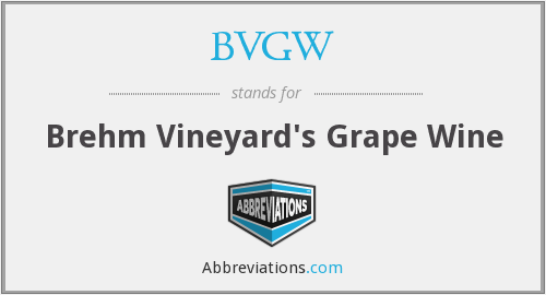 What does BVGW stand for?