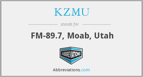 What does KZMU stand for?