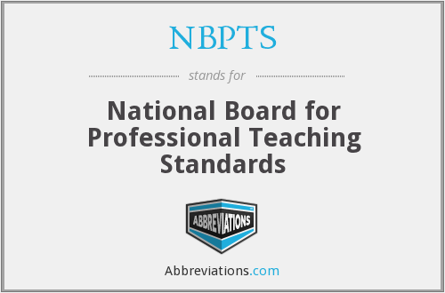 What does NBPTS stand for?