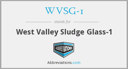 What does WVSG-1 stand for?