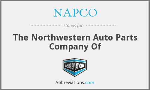 What does NAPCO stand for?
