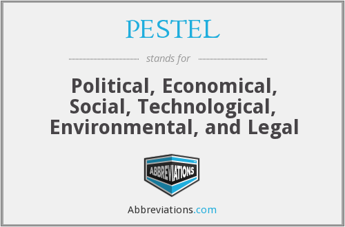 What does PESTEL stand for?