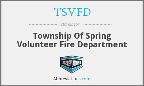 What does TSVFD stand for?