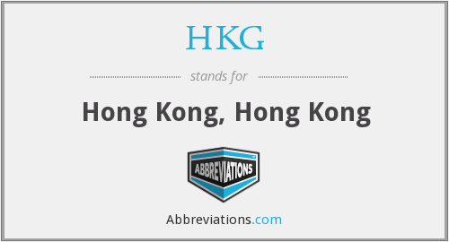 What does HKG stand for?