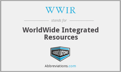 What does WWIR stand for?
